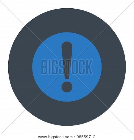 Problem flat smooth blue colors round button