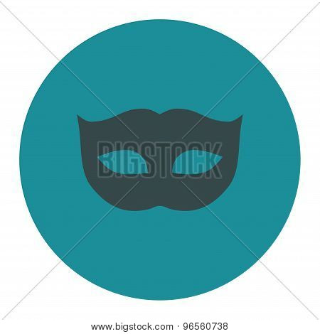 Privacy Mask flat soft blue colors round button