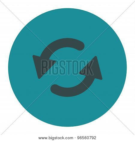 Refresh Ccw flat soft blue colors round button
