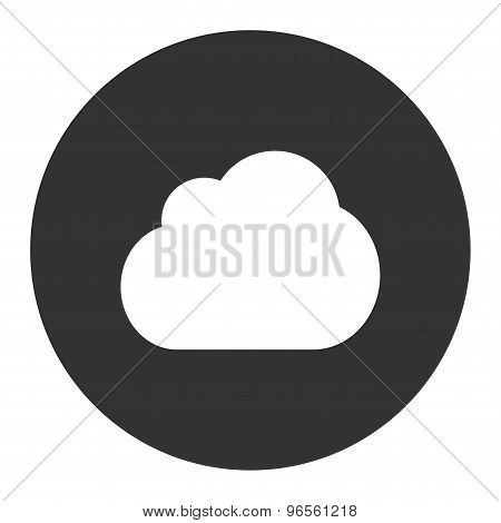 Cloud flat white and gray colors round button