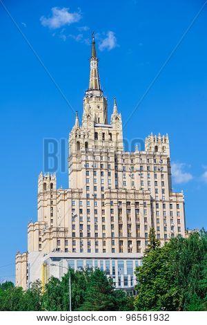 Stalin Skyscraper On Kudrinskaya Square, Moscow