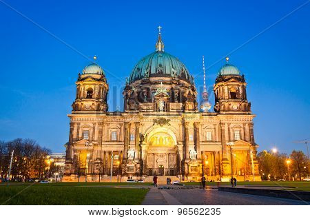 Evening View Of Berlin Cathedral, Germany