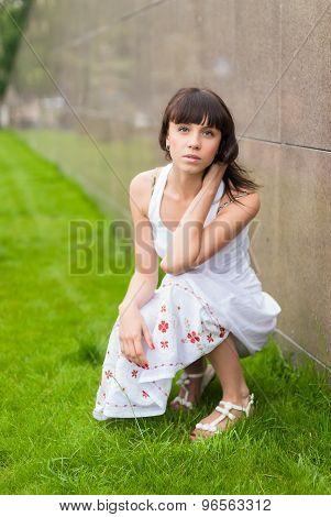 Young beautiful woman portrait