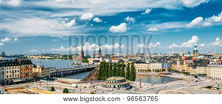 Scenic summer scenery of the Old Town in Stockholm, Sweden