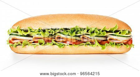 Royal Sandwich Isolated On White Background