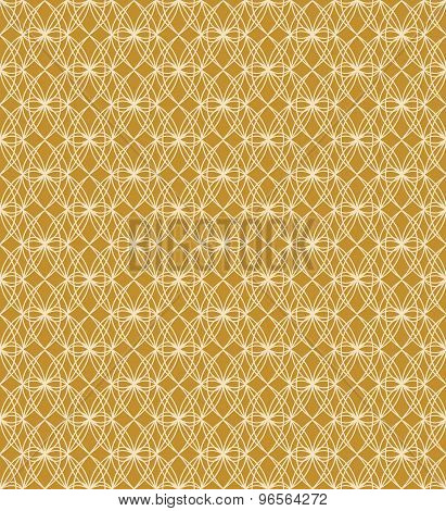 Seamless oval shape cross line window tracery pattern background.