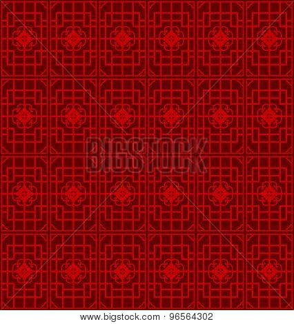 Seamless Chinese window tracery geometry square line pattern background.