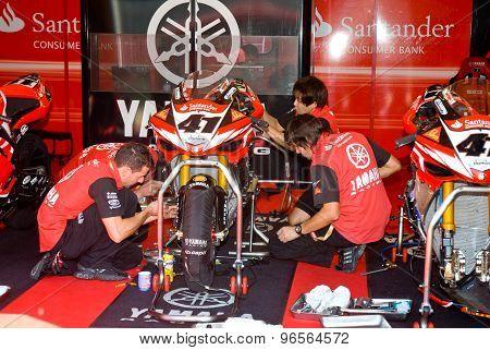 Rome, Italy - September 30 2007. Superbike Championship, Vallelunga Circuit. Noriyuki Haga Box
