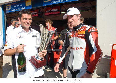 Rome, Italy - September 30 2007. Superbike Championship, Vallelunga Circuit.