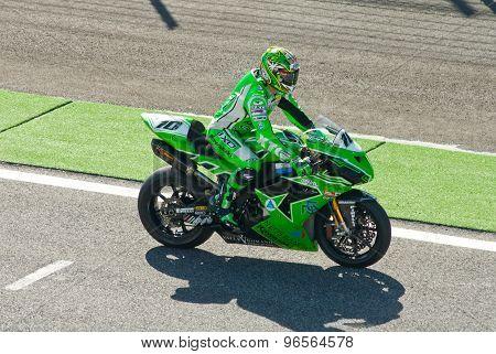 Rome, Italy - September 30 2007. Superbike Championship, Vallelunga Circuit. Fonsi Nieto
