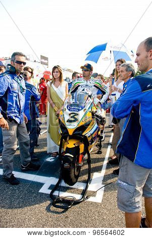 Rome, Italy - September 30 2007. Superbike Championship, Vallelunga Circuit. Max Biaggi On The Grid