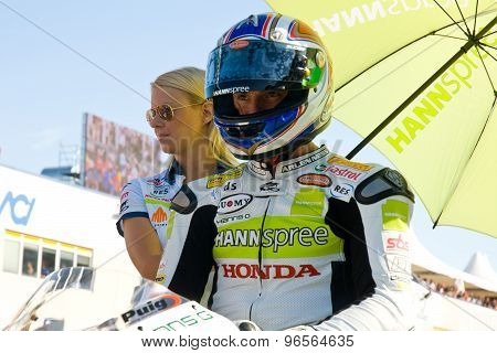 Rome, Italy - September 30 2007. Superbike Championship, Vallelunga Circuit. James Toseland On The G