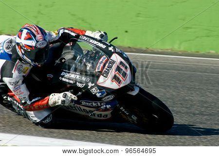 Rome, Italy - September 30 2007. Superbike Championship, Vallelunga Circuit. Ruben Xaus