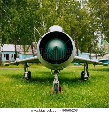 Su-7 Russian Soviet fighter-bomber developed in the 1950s, Sukho