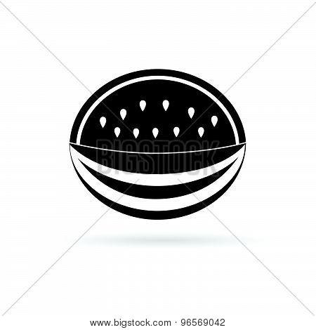 Watermelon Black Fruit Vector