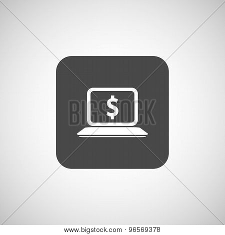 High-quality laptop screen with the Dollar Economy concept.