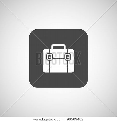 Briefcase icon, vector illustration. Flat design