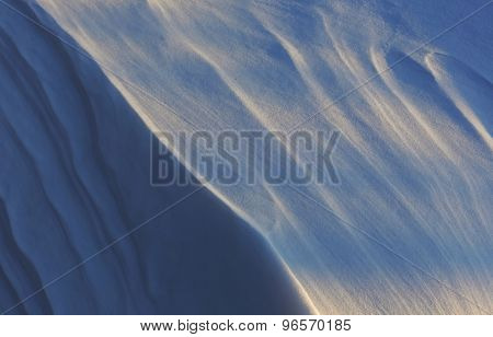 Winter Snow Drift Shadows