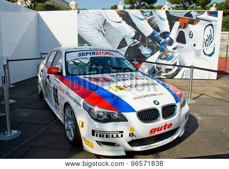 Rome, Italy - June 23 2007. Bmw 550I Racing Exposed In Sauber Bmw Rome Festival
