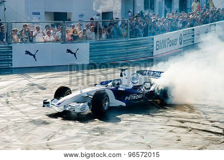Rome, Italy - June 23 2007. Formula 1 Sauber Bmw With Sebastian Vettel Driving