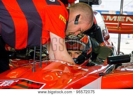 Vallelunga Circuit, Rome, Italy - November 2 2008. Superleague Formula Driver