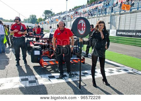 Vallelunga Circuit, Rome, Italy - November 2 2008. Grid Girl