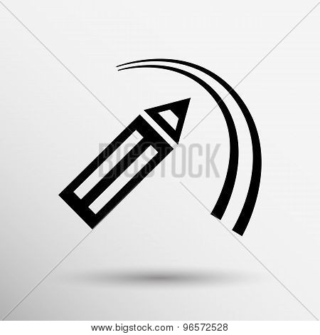 Cosmetic eyeliner with sample strokes isolated on white.