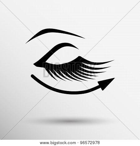 eyelashes eye icon clip isolated human soft mysterious