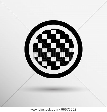 Apps metal-carbon icon carbon fiber vector black background iron icon