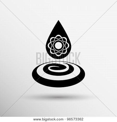water molecule water chemistry atom symbol icon