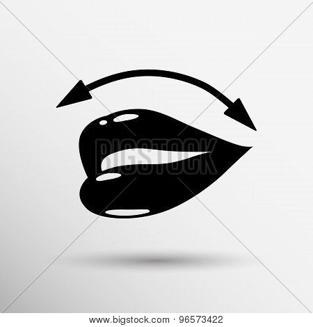 Lips icon isolated on white background. VECTOR illustration