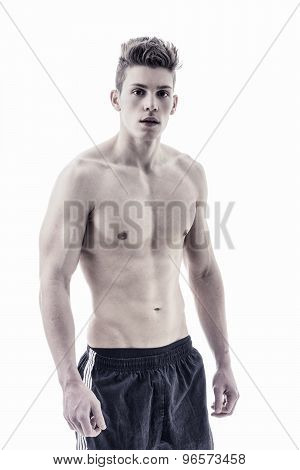 Handsome young bodybuilder in relaxed pose