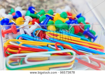 Background Of Colorful Stationery Details