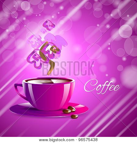 coffee on a black table showing