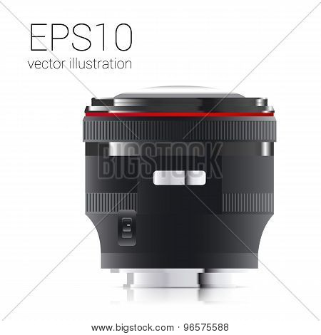 vector drawn from the camera lens side view