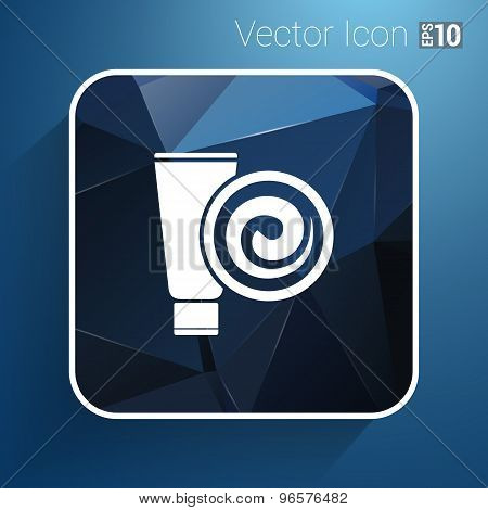 Blue Long Clean Tube Of Cream Vector Version