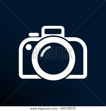 photo camera icon vector symbol photography vibrant