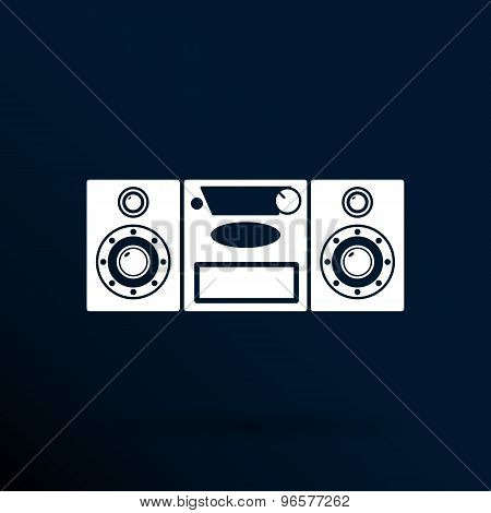 Music center icon Vector illustration art audio
