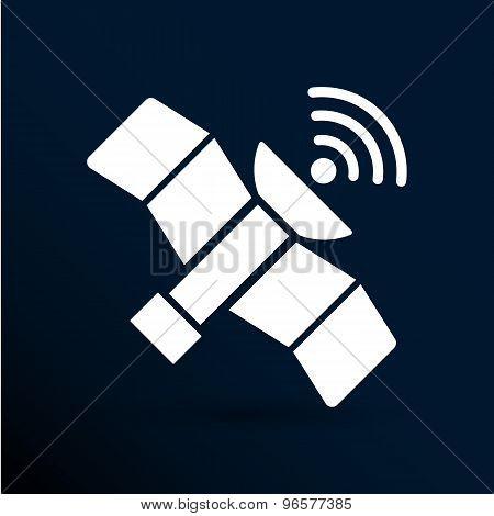 icon satellite vector design element communication connection