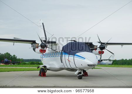 Small plane isolated on the white background