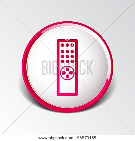 Remote control tv vector icon isolated media