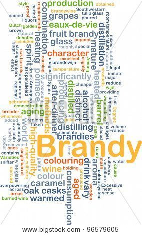 Background concept wordcloud illustration of brandy