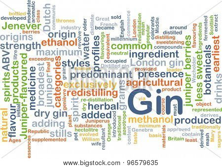 Background concept wordcloud illustration of gin
