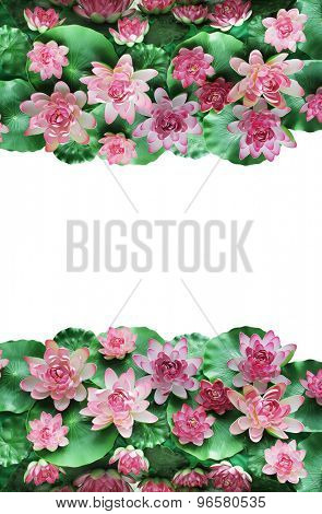 colorful artificial fabric water lily flower