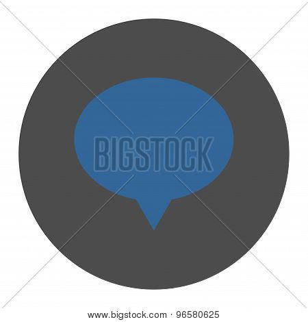 Banner flat cobalt and gray colors round button