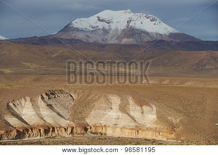 Active Volcano on the Altiplano