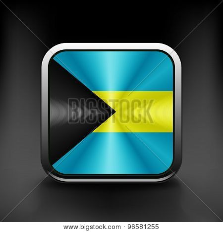 Bahamas vector flag isolated on background national