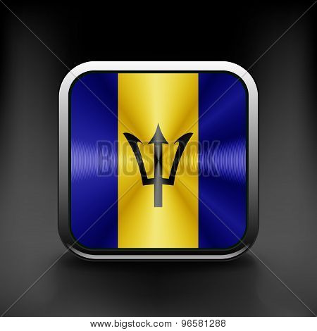 Flag  of the country  barbados. Vector illustration Exact colors.