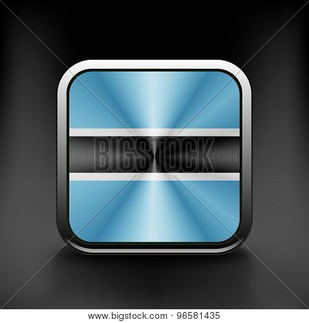 Botswana icon flag national travel icon country symbol button