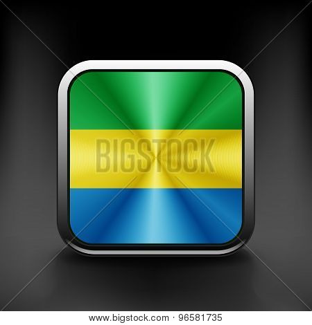 Gabon icon flag national travel icon country symbol button